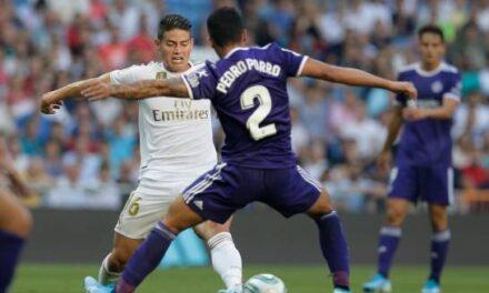 Real Madrid deja escapar victoria, con James Rodríguez de regreso