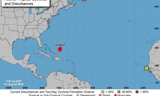 Peligroso huracán Dorian puede llegar a Florida con categoría 4