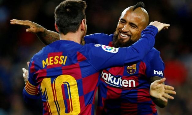 Argentino Messi reafirma liderato goleador gracias al chileno Vidal