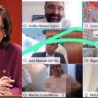 Senadora de México olvida apagar su cámara en reunión por Zoom y aparece desnuda por accidente