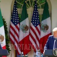 López Obrador se deshace en halagos a Trump sin tocar tema migratorio