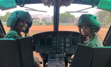 Helicóptero militar de la FARD es piloteado por 2 mujeres por primera vez en la historia.